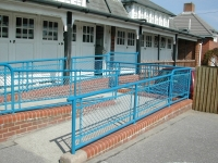 Handrails and Guarding to a Disabled Access Ramp