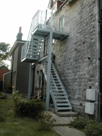 Fire Escape for 1st and 2nd Floor Flats