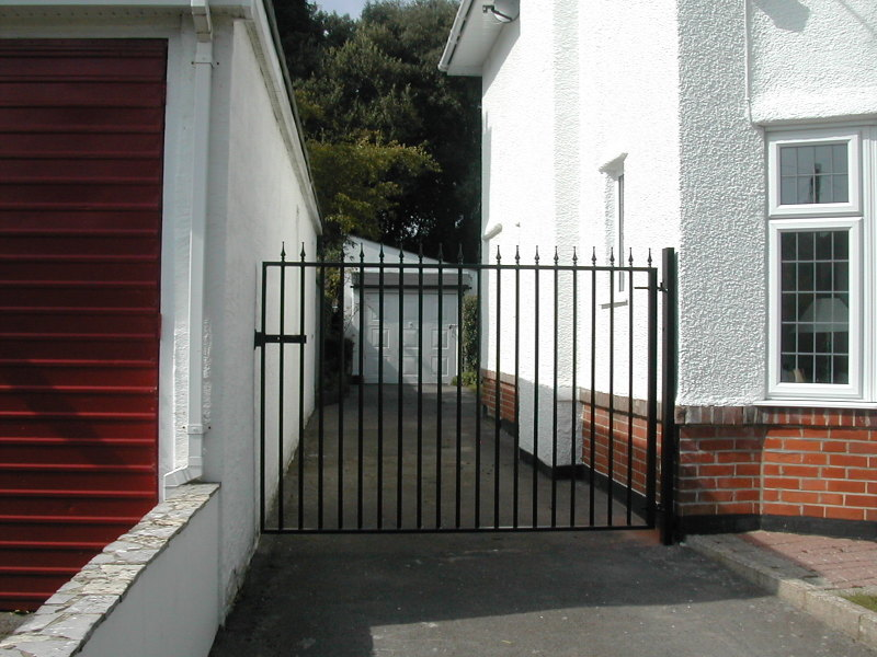 Tall Security Gate with Powder Coat Paint Finish