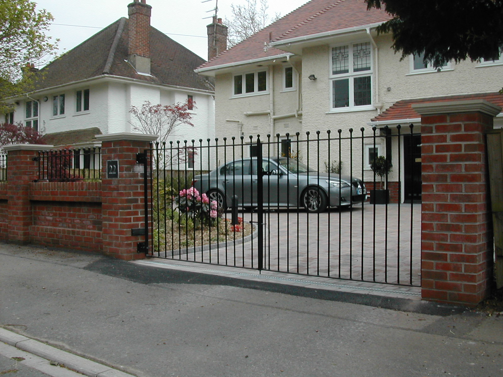 Simple Drive Gates with Matching Railings