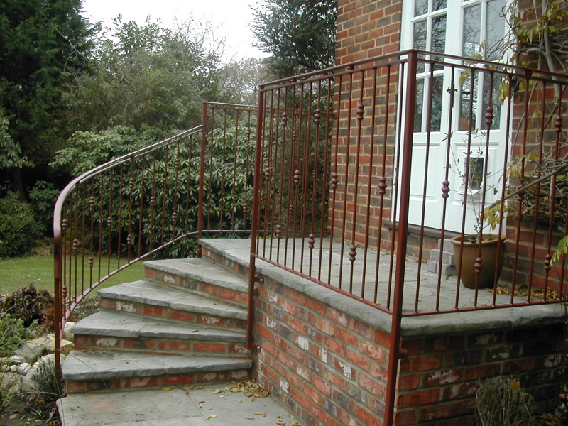 Decorative Handrail and Matching Railings